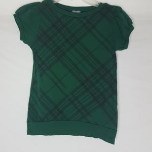 Delia's Checkered Green Black Shirt Top SZ S/M